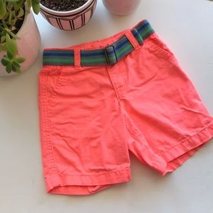 Crazy 8 Boys Neon Shorts with Belt - 18-24 months